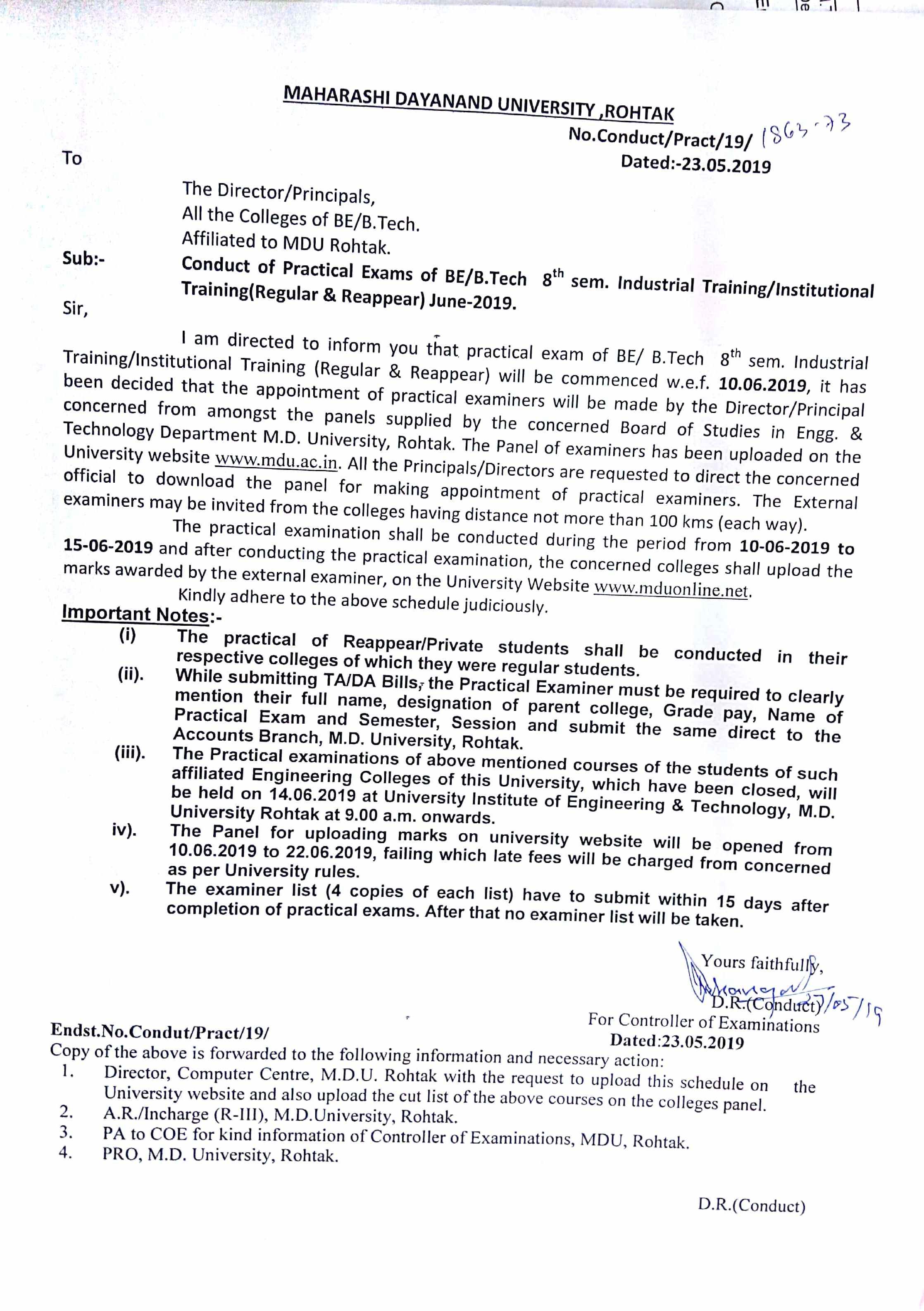 MDU Rohtak Date Sheet 2019 BA, BCom, BSc, MA, Exam Updated